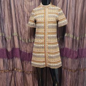 Vintage 50's Knit Mod Mini Dress